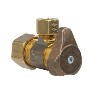 Brass Craft 1/2 in. Nom Compression x OD Compression Rough Brass Angle Stop Valve BG2CR19XR