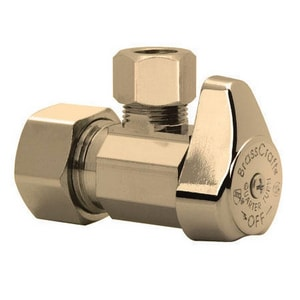 Brass Craft 1/4 x 1/2 in. Nom Compression x OD Compression Turn Angle Supply Stop Valve BG2CR19L1XCB