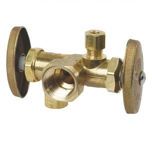 Brass Craft FIP x OD Compression Straight Supply Stop Valve BR1700DVX