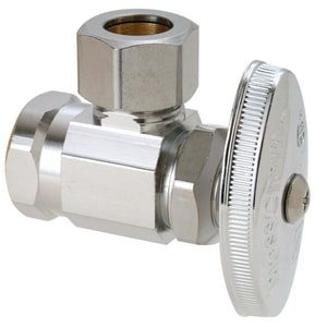 Brass Craft 1/2 in. FIP x 1/2 in. OD Compression Multi-Turn Angle Supply Stop Chrome BOR37XC