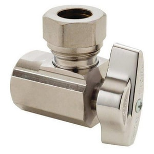 Brass Craft 1/2 in. Slip-Joint Angle Stop Valve BKT3301XC