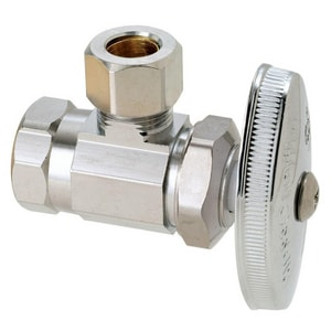 Brass Craft OR15 Series 3/8 in Oval Handle Angle Supply Stop Valve in Chrome Plated BOR15XC