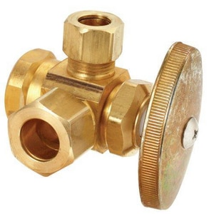 Brass Craft 1/2 x 3/8 in. FIP x OD Compression Angle Supply Stop Valve BR3701RXR1