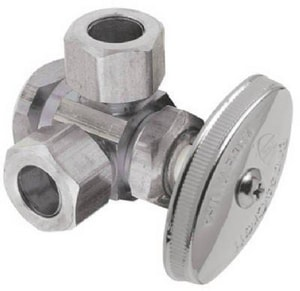Brass Craft OD Compression x Compression Angle Supply Stop Valve in Polished Chrome BR1700RXR1
