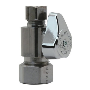 Brass Craft G2CR14 Series 1/2 in x 3/8 in Straight Supply Stop Valve in Chrome Plated BG2CR14XC