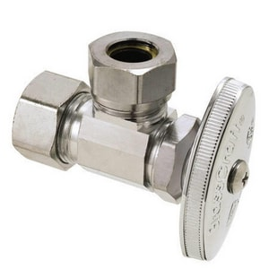 Brass Craft O3341 Series 1/2 in Oval Handle Angle Supply Stop Valve in Polished Chrome BO3341XC