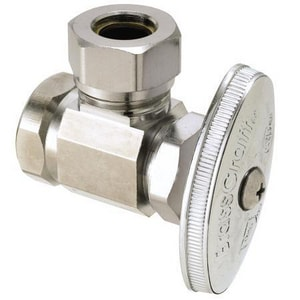 Brass Craft O3301 Series 1/2 in. FIP Compression Slip Joint Angle Stop Valve BO3301XC