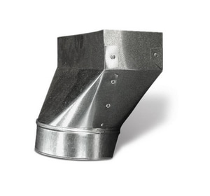 Lukjan Metal Products 10 x 8 in. Straight Boot with 1 in. Flange SHMRBSF10X1F