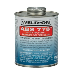 Weld-On® 1 qt ABS Cement in Black I13533