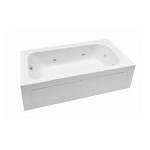 PROFLO® 19-3/4 x 72 x 42 in. Acrylic Right Hand Rectangle Whirlpool Bathtub with Skirt PFW7242ARSK