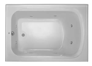 PROFLO® 19-3/4 x 60 x 42 in. Acrylic Left Hand Rectangle Whirlpool Bathtub with Skirt PFW6042ALSK