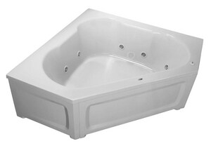 PROFLO® 21 x 60 x 60 in. Acrylic Corner Whirlpool Bathtub with Skirt PFW6060SKPLA