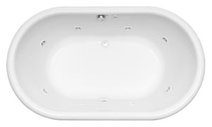 Mirabelle® Boca Raton 66 x 40 in. Drop-In Oval Air Whirlpool Total Massage Tub MIRBRT6640V