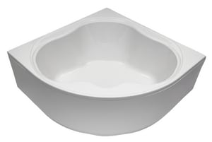 Mirabelle® St Augustine® 60 x 60 in. Acrylic Corner Left Hand Whirlpool with Skirt MIRSAW6060L