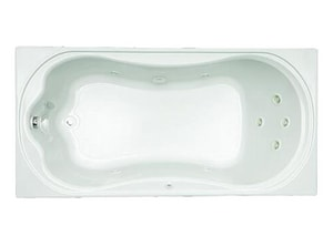 Mirabelle® Key West 72 x 36 in. Key West Drop-In Whirlpool Tub with Reversible Drain MIRKWW7236