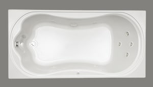 Mirabelle® Key West 72 x 36 in. Drop-In Whirlpools with Reversible Drain MIRKWT7236
