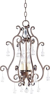 Maxim Lighting International Hampton 60 W 3-Light Candelabra Pendant M12028AD