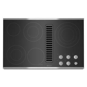 Jennair 35-1/2 in. 5-Burner Electric Radiant Downdraft Cooktop JJED3536W