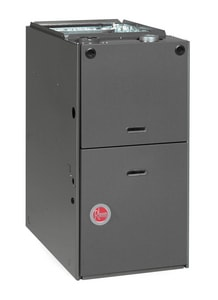 Rheem Value Series 17-1/2 in. 80% AFUE Single-Stage Upflow and Horizontal 1/2 hp Natural or LP Gas and AC Furnace RGPSEAMER