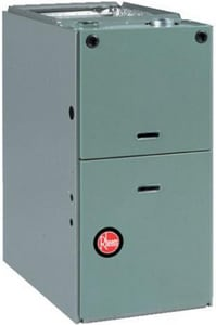 Rheem Value Series 21 in. 100000 BTU 80% AFUE 4 Ton Single-Stage Downflow 1/2 hp Natural or LP Gas and AC Furnace RGLS10EBRGR