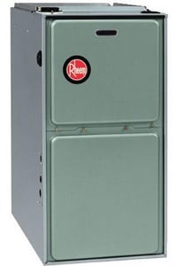 Rheem RGTS Series 17-1/2 in. 75000 BTU 92% AFUE 3 Ton Single-Stage Downflow 1/2 hp Natural or LP Gas and AC Furnace RGTS07EMAES