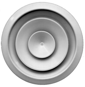 PROSELECT® 10 in. Round White Fixed Ceiling Diffuser PSRADW10