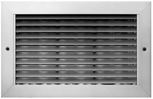 PROSELECT® 14 x 14 in. White Aluminum Horizontal Blade Return Grille PSAH45W1414