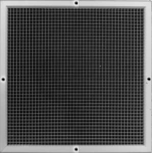 PROSELECT® 24 in. Aluminum Egg Crate Filter Grille in White PSAEC5FG24