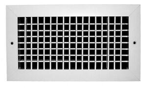 PROSELECT® 12 x 12 in. Aluminum Adjustable Face Register in White PSAVHW1212