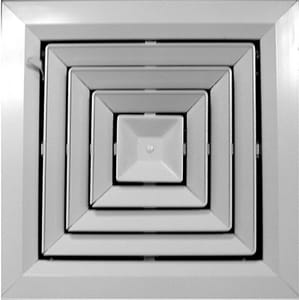 PROSELECT® 12 in. White Square Ceiling Diffuser PSSQCDW12