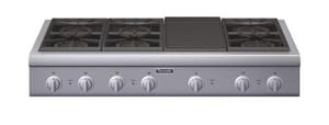 Thermador 48 in. 6-Burner With Griddle Gas Rangetop TPCG486GD