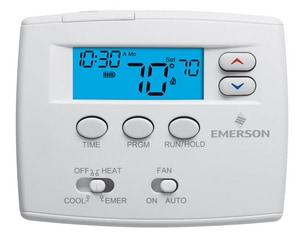 White Rodgers 2 Heat / 2 Cool 5 + 1 + 1 Day Programmable Digital Horsepower Thermostat W1F820261