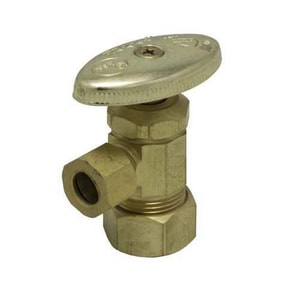 PROFLO® 5/8 in x 3/8 in Oval Handle Angle Supply Stop Valve PFXAC32