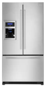 Jennair 20 CF French Door Refrigerator With Ice Maker in Euro-Style Stainless JJFI2089WES