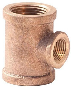 Merit Brass FNPT 125# Brass Reducing Tee BRLFT