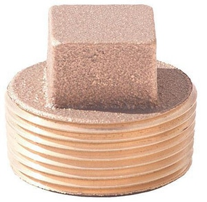 Merit Brass MNPT Square Head Brass Solid Plug BRLFSHSP