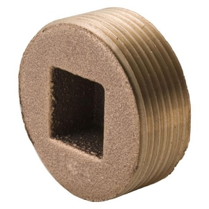 Merit Brass MNPT Square Head Countersunk Brass Plug BRLFCSKP