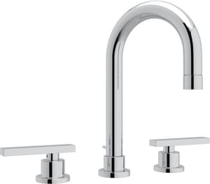 Rohl Modern™ 3-Hole Deckmount Widespread Lavatory Faucet with Double Lever Handle and 4-13/16 in. Spout Height RBA108L2