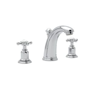 Rohl Perrin & Rowe® Edwardian 1.2 gpm 3-Hole Widespread Lavatory Faucet with Double Cross Handle and 4-1/2 in. Spout Reach RU3761X2