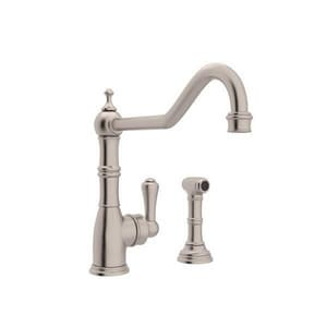 Rohl Perrin & Rowe® 1.8 gpm 2-Hole Kitchen Faucet with Single Lever Handle RU47472