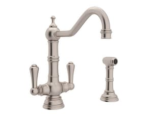 Rohl Perrin & Rowe® 1.8 gpm 8 in. 2-Handle 2-Hole Deck Mount Kitchen Sink Faucet Column Spout RU4766