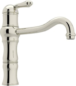 Rohl Country Kitchen 1-Hole Kitchen Faucet with Single Metal Lever Handle RA3479LM2