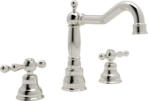 Rohl Cisal 3-Hole Deckmount Widespread Lavatory Faucet with Double Lever Handle and 5-1/4 in. Spout Height RAC107L2