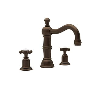 Rohl Perrin & Rowe® Edwardian 3-Hole 1.5 gpm Widespread Lavatory Faucet with Double Cross Handle RU3721X2