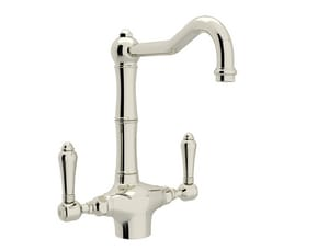 Rohl Country Kitchen 1-Hole Kitchen Faucet with Double Metal Lever Handle RA1679LM2