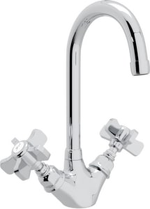 Rohl Perrin & Rowe® Country Kitchen 1-Hole Kitchen and Bar Faucet with Five Spoke Handle RA1466X2