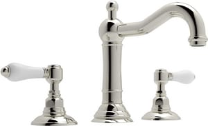 Rohl Country Bath C-Spout Sprayer Lavatory Faucet with Pop-Up RA1409LP