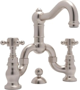 Rohl Aqui 2-Hole 1.2 gpm Bridge Lavatory Faucet with Double Cross Handle RA1419XM2