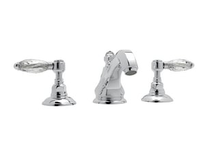 Rohl Hex 1.2 gpm Double Lever Handle Widespread Cream Stone Lavatory Faucet RA1808LC2