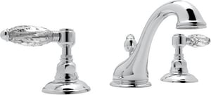 Rohl Country Bath 1.2 gpm Double Lever Handle Widespread Lavatory Faucet with Pop-Up RA1408LC2